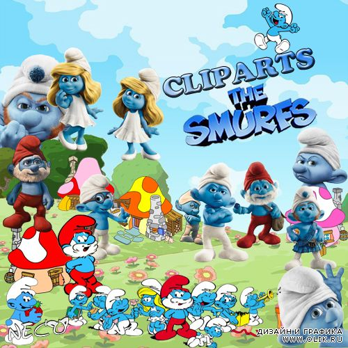 Cliparts the smurfs - Клипарт смурфы