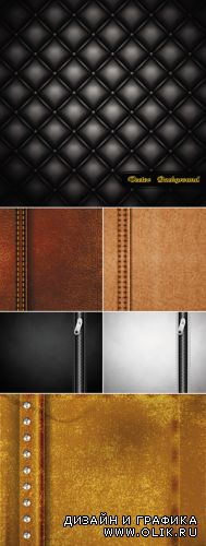 Realistic Leather Backgrounds Vector