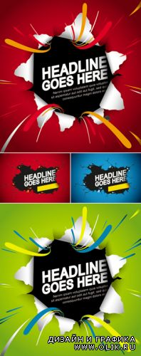 Breaking Wall Backgrounds Vector