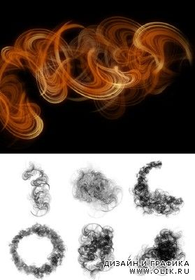 Rising Smoke Brushes Set for Photoshop