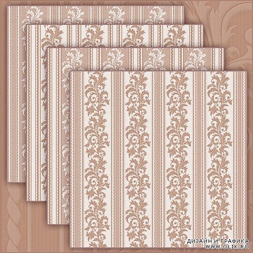Damask stripes texture in beige