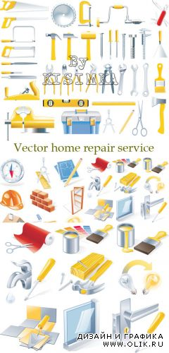Stock: Vector home repair service icon set