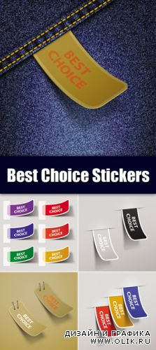 Best Choiсe Stickers Vector
