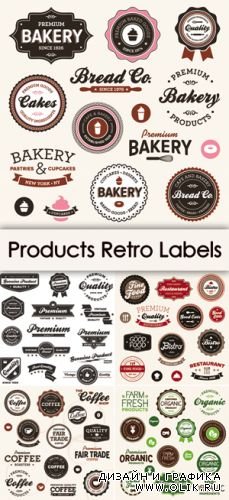 Products Retro Labels Vector