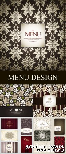 Spring Menu Design Vector