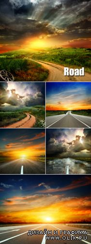 Stock Photo - Road to Sunset