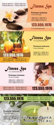 Spa Business Cards Psd for PHSP