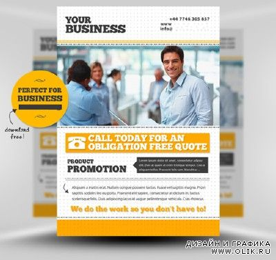 Business Flyer Templates Mockup for PHSP