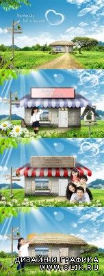 A small house and shop in the village psd for PHSP