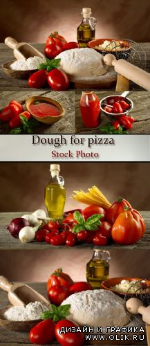 Stock Photo: Dough for pizza