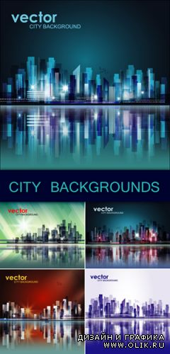 City Backgrounds Vector