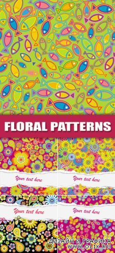 Colorful Floral Patterns Vector