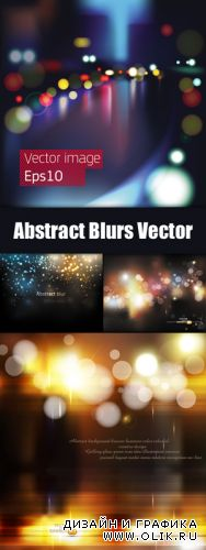 Abstract Blurs Backgrounds Vector
