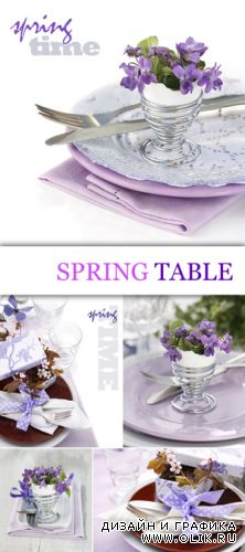 Stock Photo - Spring Table Decoration