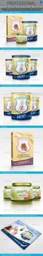 Graphicriver Baby Food Packaging Design Mockup