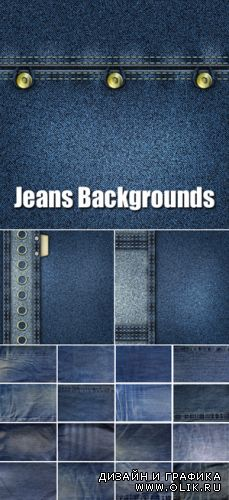 Stock Photo - Blue Jeans Backgrounds