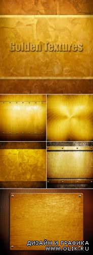 Stock Photo - Golden Metal Textures 3