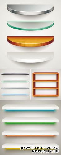 Various Shelves Vector 2