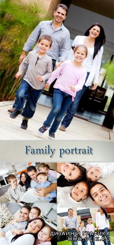 Stock Photo: Family portrait 7