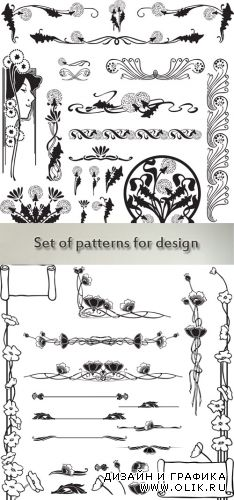 Stock: Set of patterns for design purposes and poppy