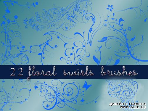Brushes fot Photoshop - 22 Floral Swirls