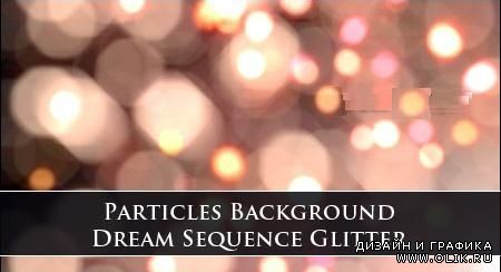 Particles Background Dream Sequence Glitter