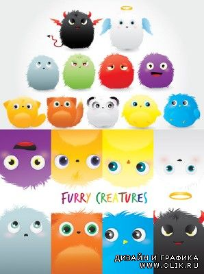 Furry Creatures Vector