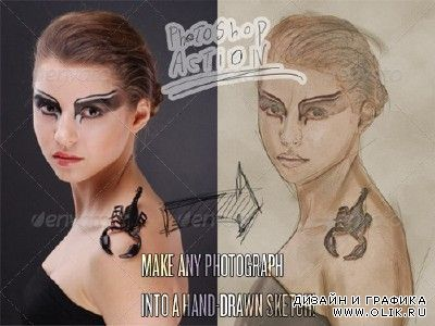 Photograph to Sketch Art - Photoshop Action