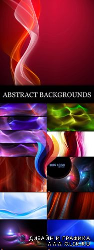 Stock Photo - Color Fractal Abstract Backgrounds