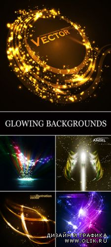 Glowing Abstract Backgrounds Vector 2