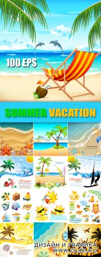 Summer Tropical Vacation Vector