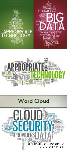 Stock Photo: Word Cloud Background