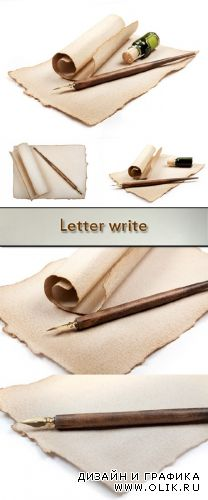 Stock Photo: Old paper for the letter on a white background