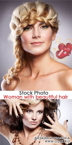 Stock Photo - Woman with beautiful hair