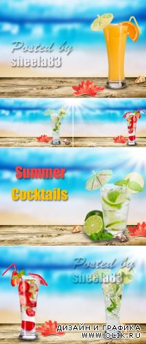 Stock Photo - Tropical Cocktails