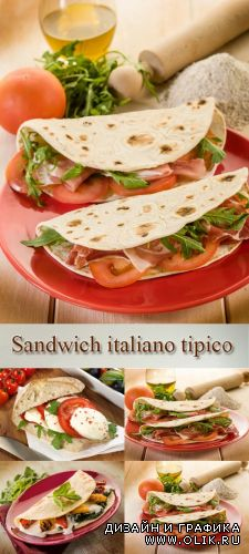Stock Photo: Traditional Italian sandwich taco
