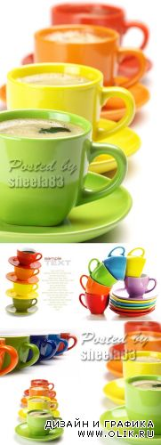 Stock Photo - Color Cups