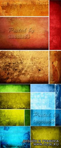 Stock Photo - Color Grunge Backgrounds 4