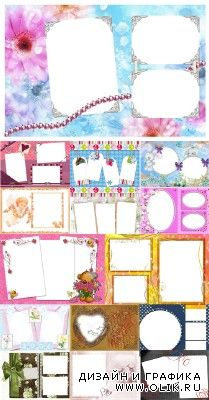 Collection of Spring Photo frames pack 25