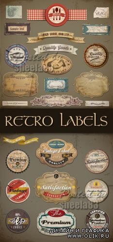 Retro Labels Vector 2