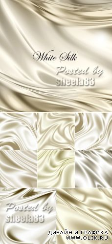 Stock Photo - White Silk Backgrounds