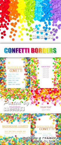 Stock Photo - Confetti Borders