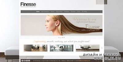 ActiveDen - Finesse AS3 XML Business Website Template (Incl FLA & PHP) - Updated & Fixed