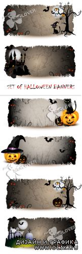 Set of Halloween banners 0240