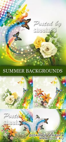 Colorful Summer Backgrounds Vector