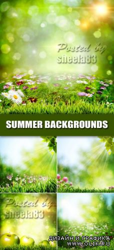 Stock Photo - Green Summer Backgrounds 2