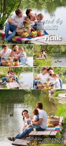 Stock Photo - Family on Picnic