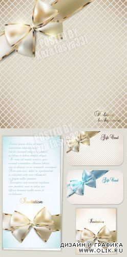 Luxury cards with bows