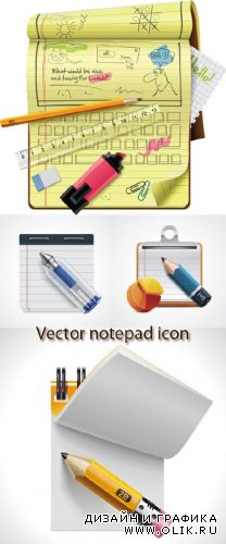 Stock: Vector notepad XXL icon