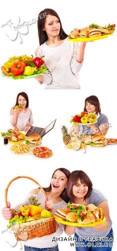 Healthy eating or fast food 0250